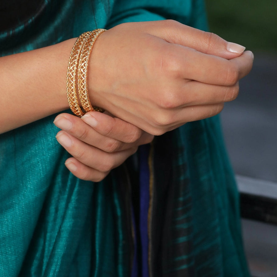 Riyal Antique Bangles by Tarinika