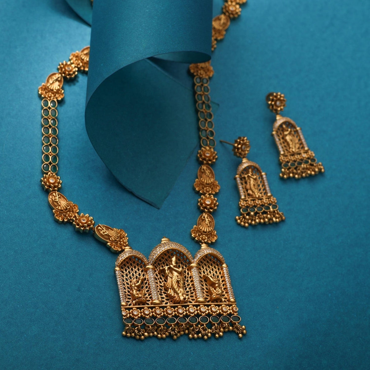 Mihar Antique Long Necklace Set