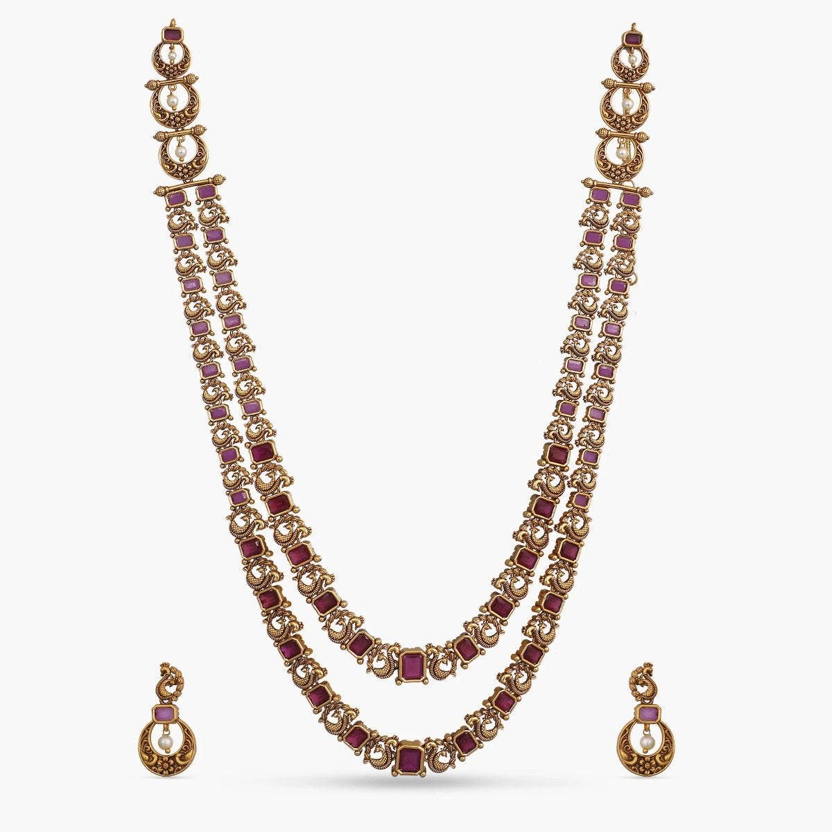 Hemani Antique Long Necklace Set