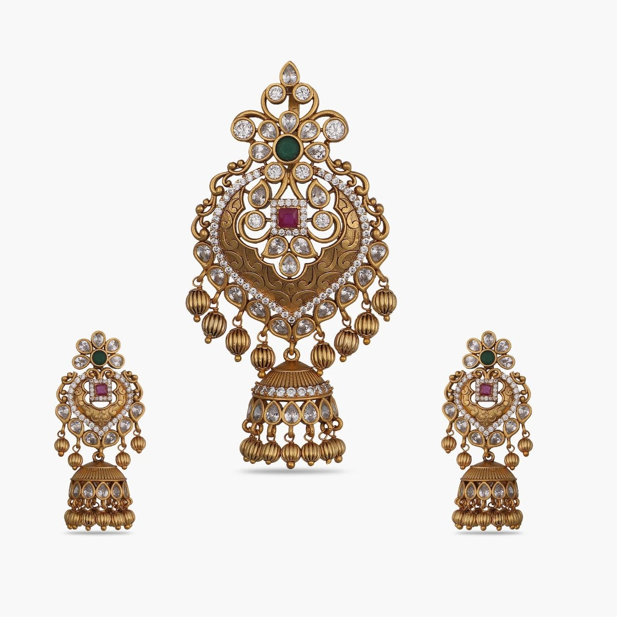 Gaurika Antique Pendant Set