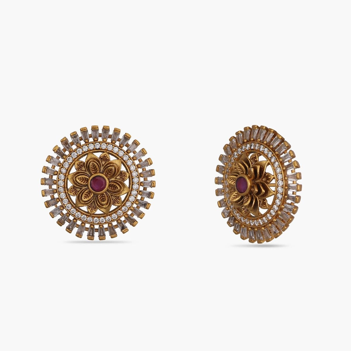 Mesha Nakshatra CZ Earrings