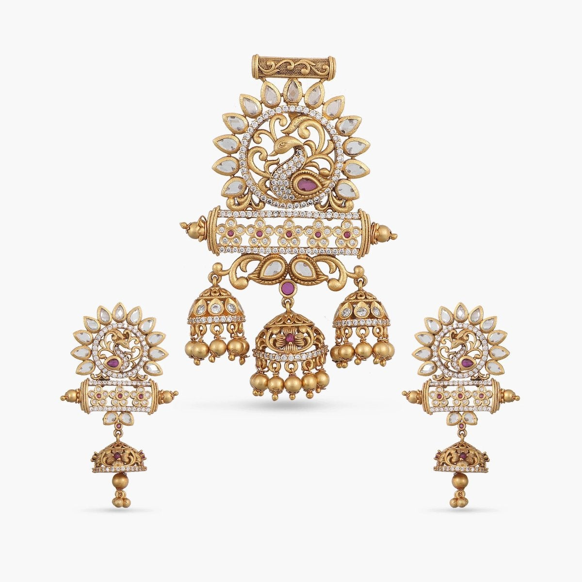 Bimala Antique Pendant Set