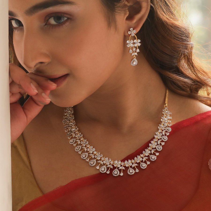 Zaina Nakshatra CZ Necklace Set by Tarinika