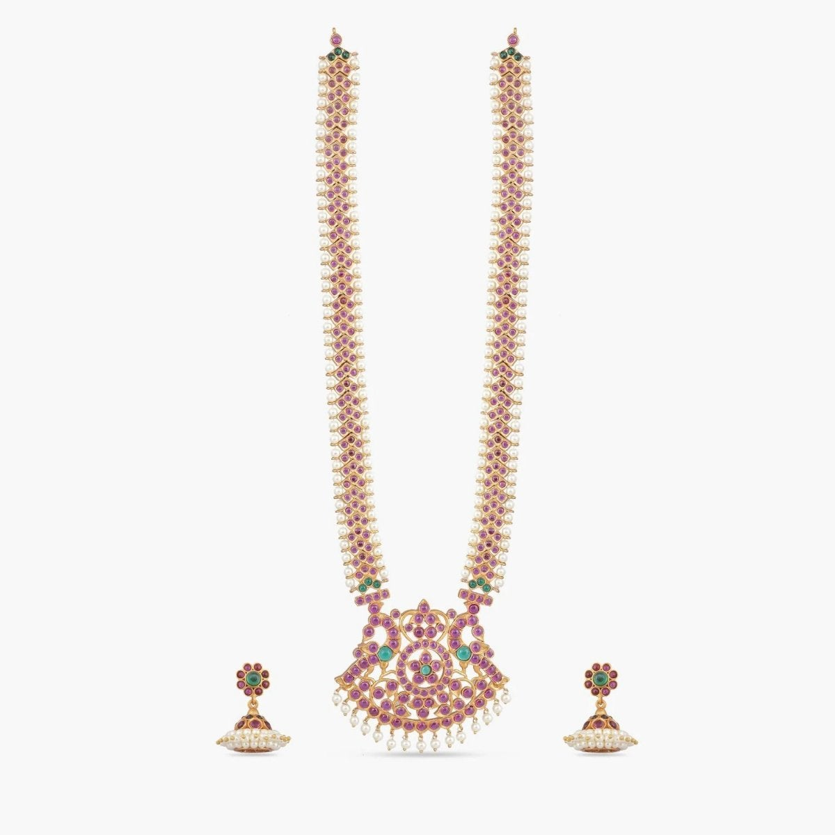Suvarna Antique Long Necklace Set