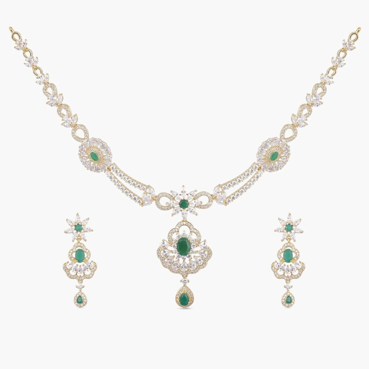 Salena Nakshatra CZ Necklace Set
