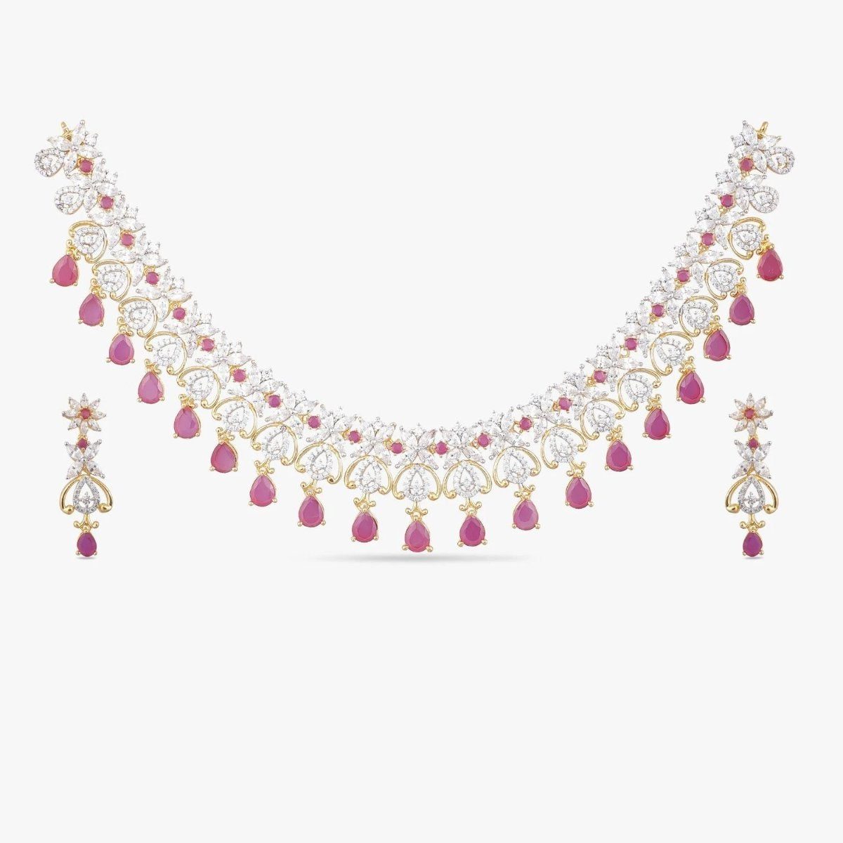Saloni Nakshtatra CZ Necklace Set