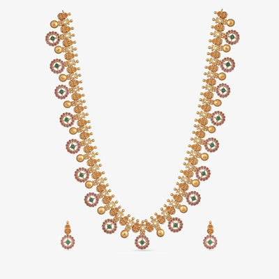 Bhini Antique Long Necklace Set