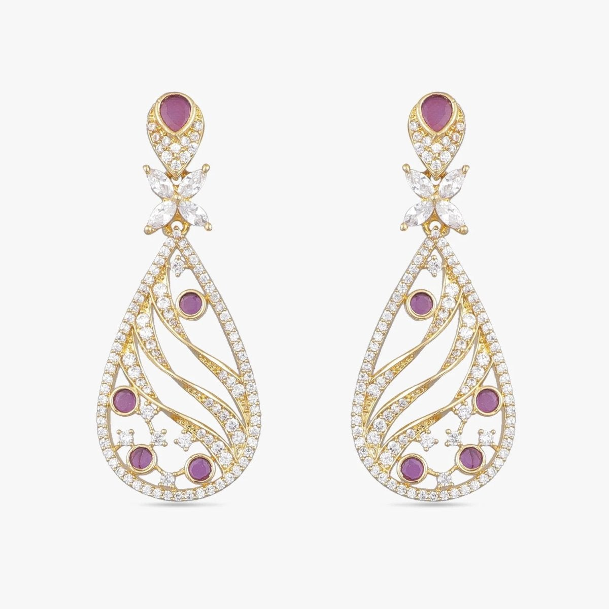 Anuthi Nakshatra CZ Earrings