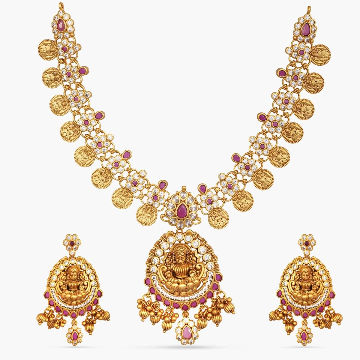 Vale Antique CZ Necklace Set