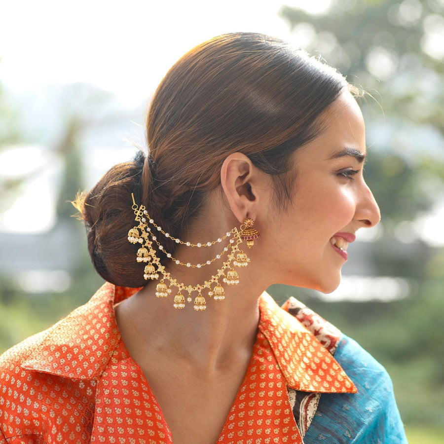Rushil Nakshata CZ Ear Chain