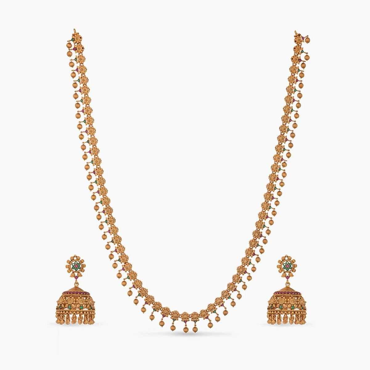 Dara Antique Long Necklace Set