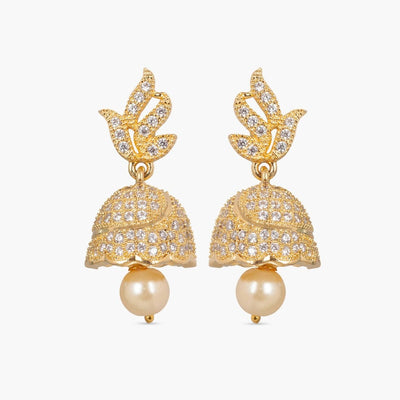 Rajas Nakshatra CZ Jhumka Earrings