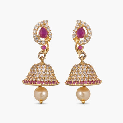 Dasmaya Nakshatra CZ Jhumka Earrings by Tarinika