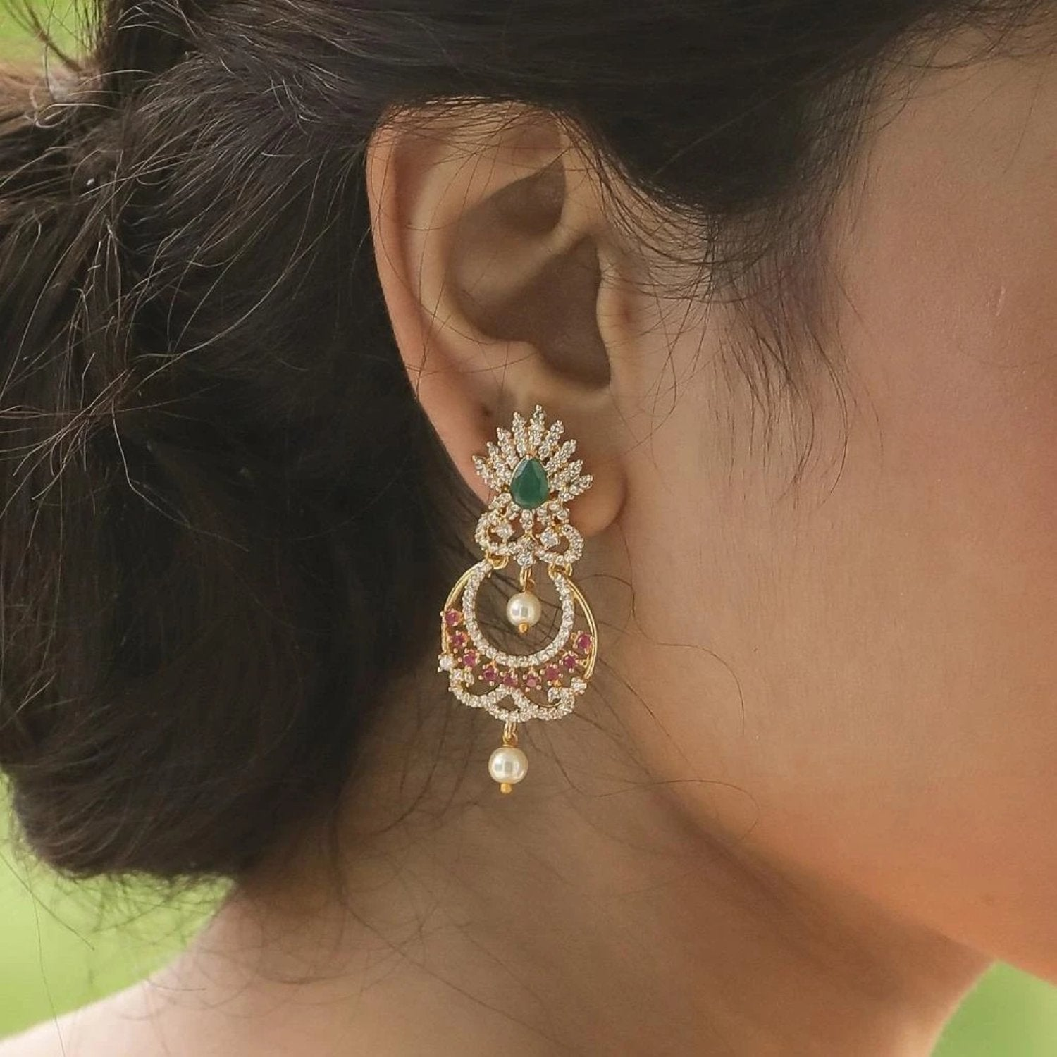 Jia Nakshatra CZ Earrings