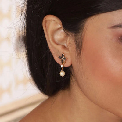 Lily Nakshatra CZ Earrings