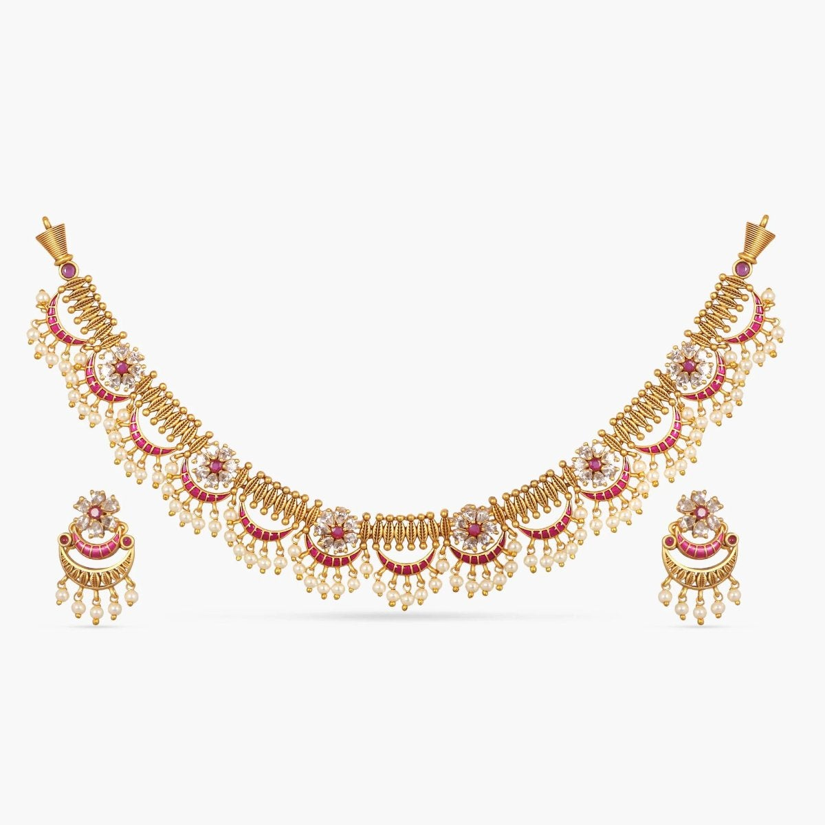 Videni Antique Necklace Set by Tarinika