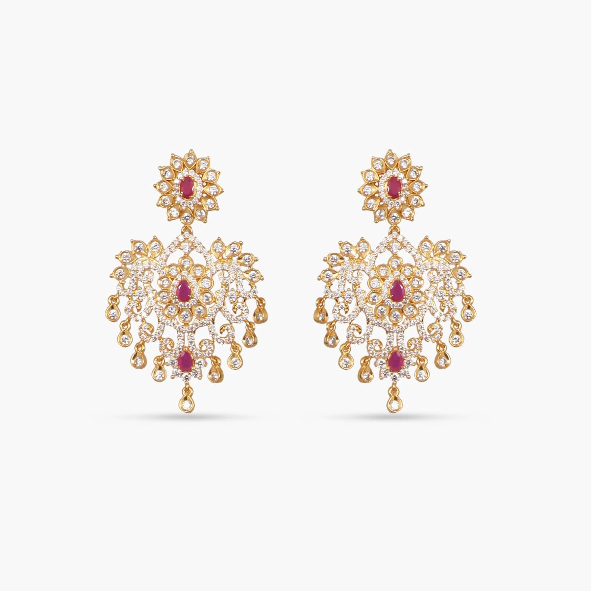 Abhiri Nakshatra CZ Long Necklace Set