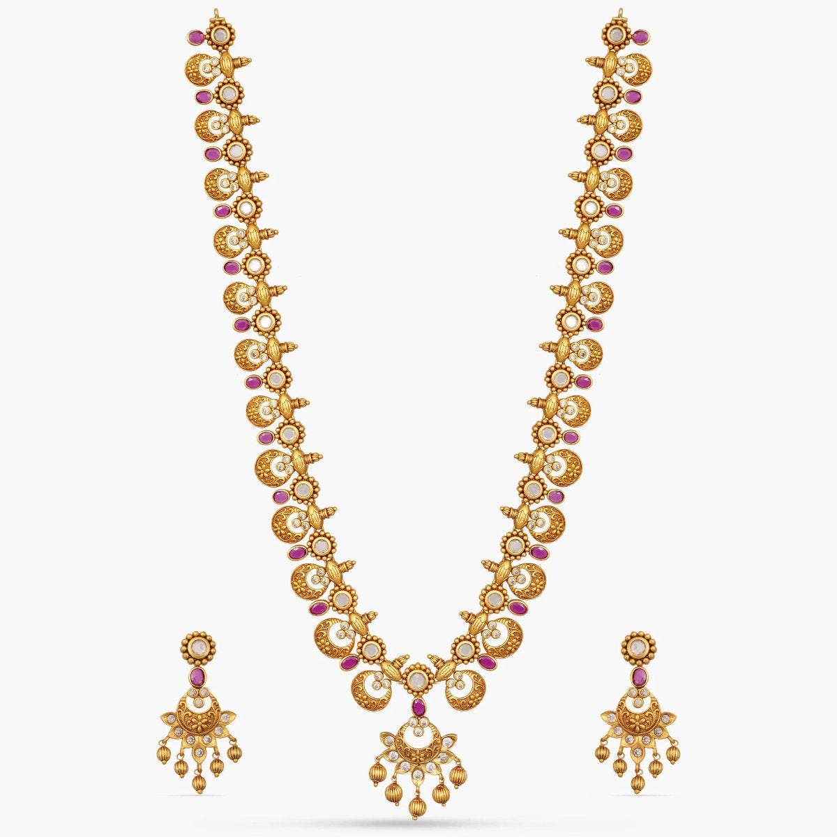 Moon Antique Long Necklace Set