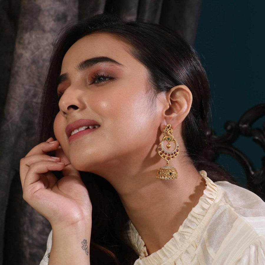 Diksha Antique Earrings by Tarinika