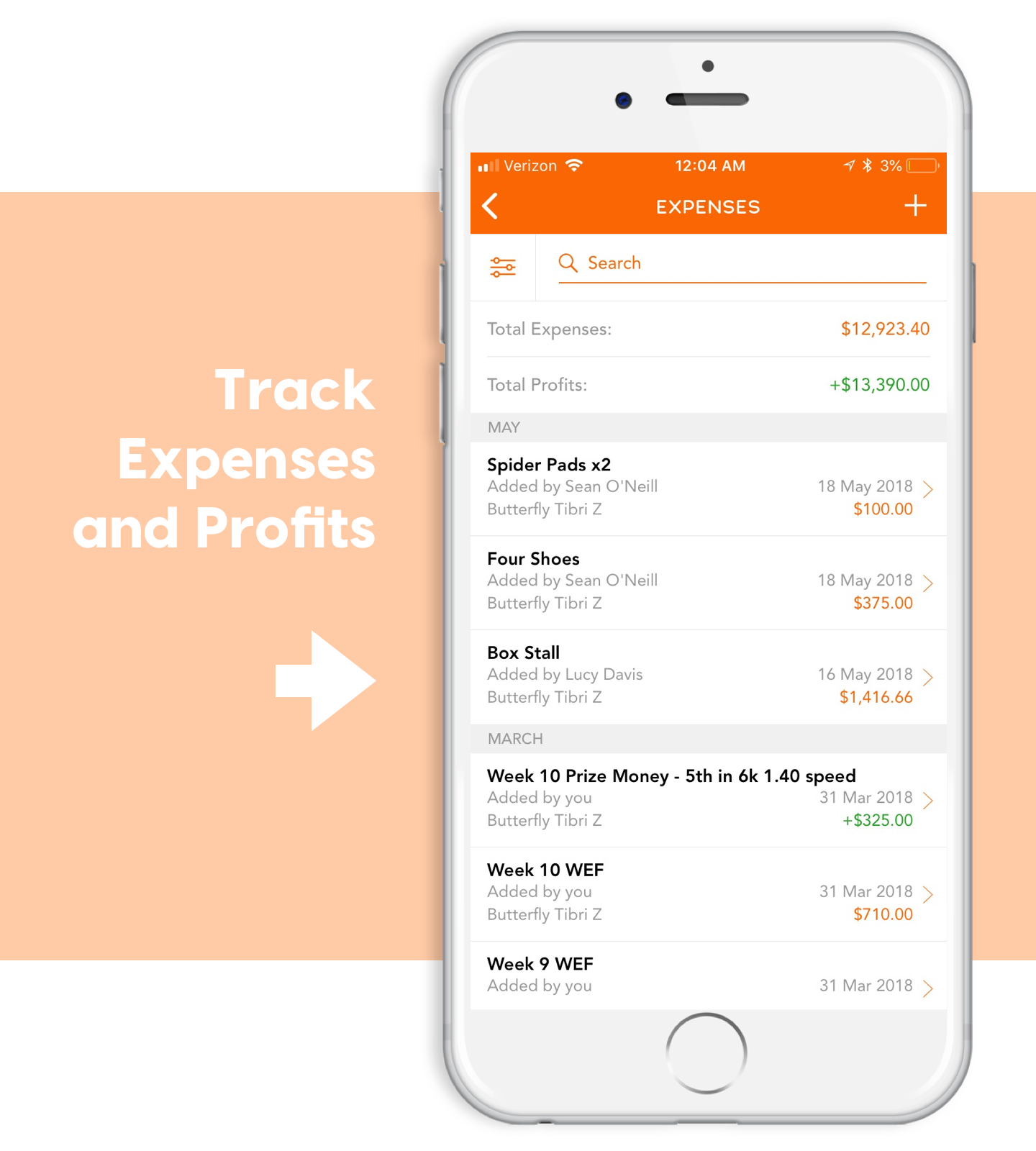 ponyapp expenses accounting invoicing billing