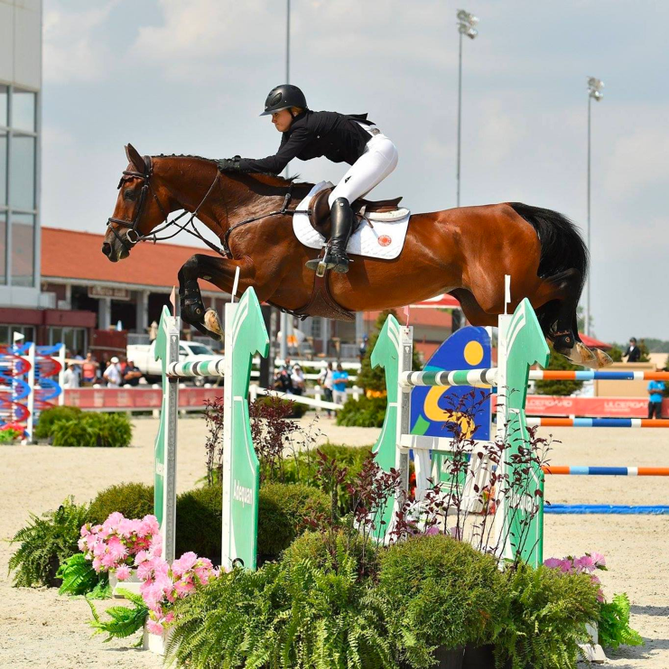 Lindsay Douglass and Butterfly Tibri Z at CSI 5* Chicago Balmoral