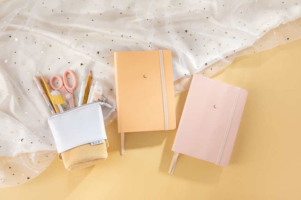 orange + pink pastel notebook