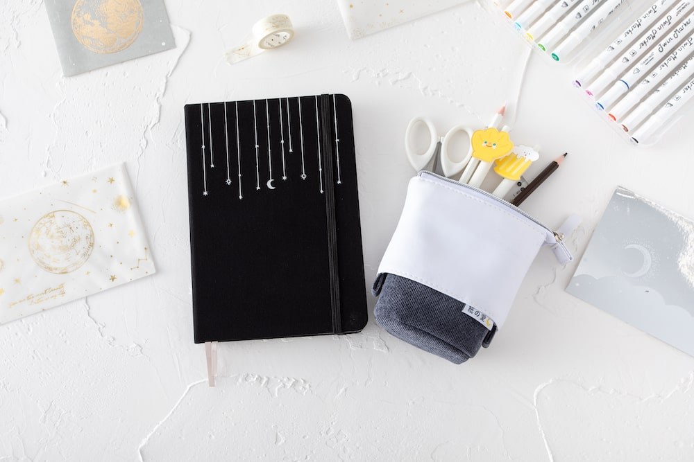 notebook + pencil case