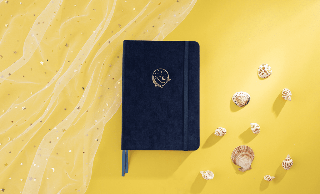 tsuki gentle giant whale notebook front