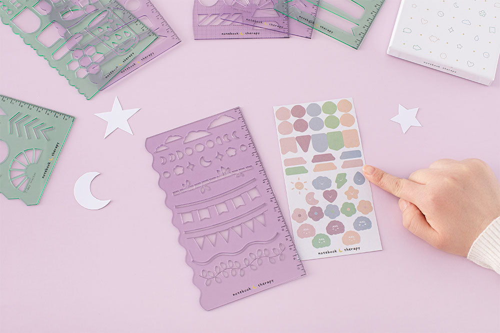 Free decorative cute sticker sheet included with stencil sheets