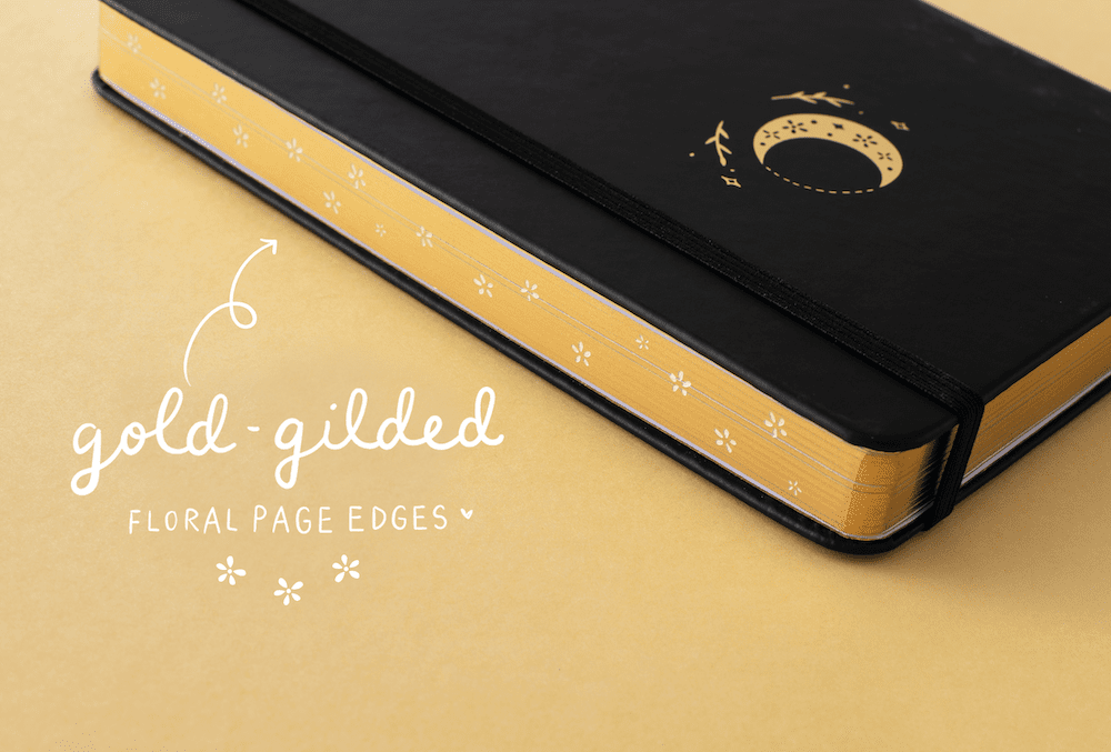 gold gilded floral page edges