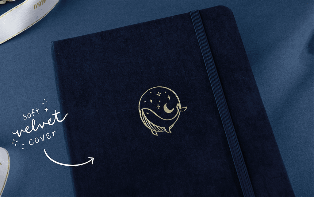 tsuki gentle giant whale notebook front emblem