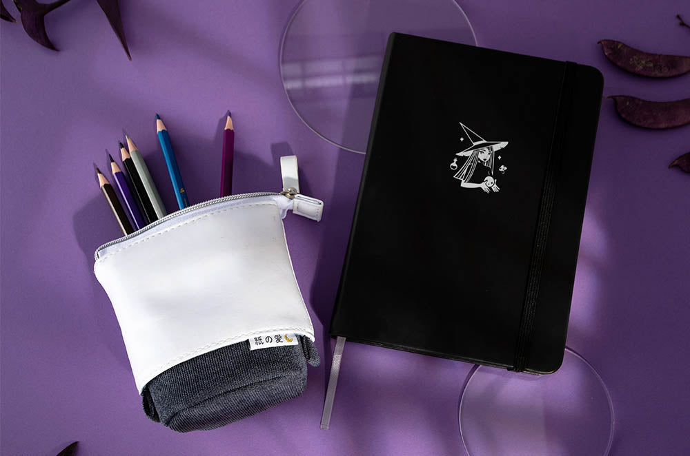 notebook and pencil case