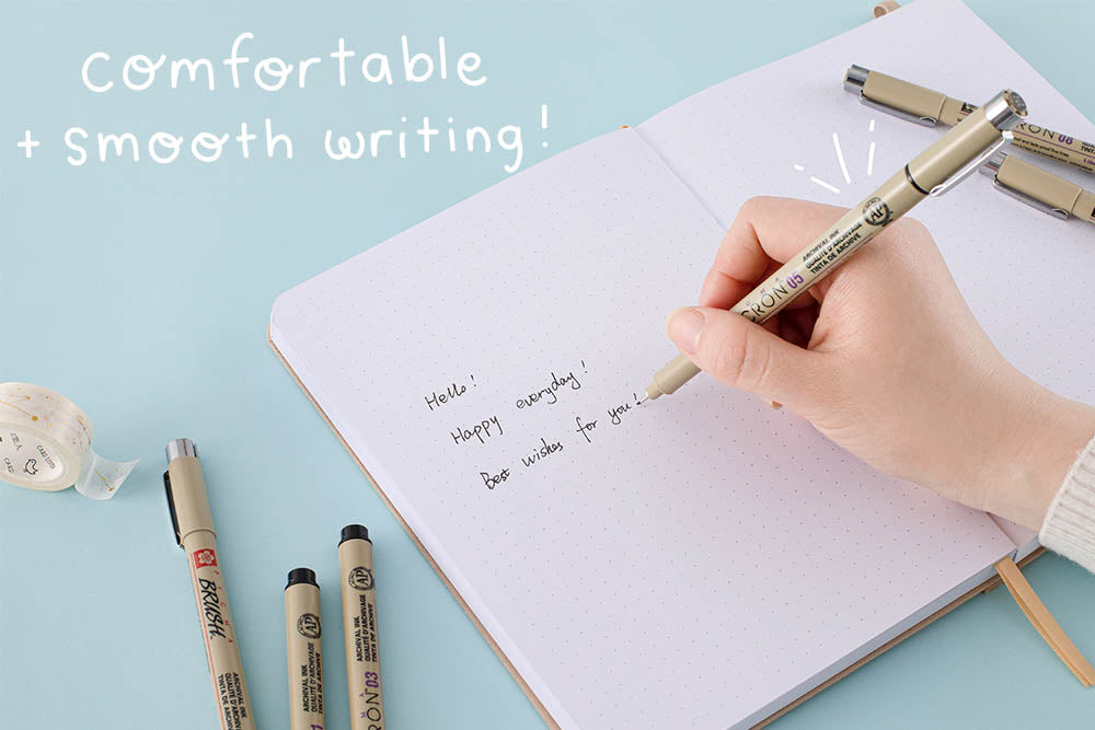 comfortable and smooth writing micron pen