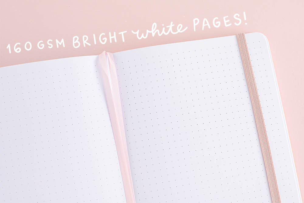 160gsm bright white pages