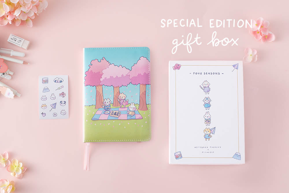 special edition giftbox in a pink background