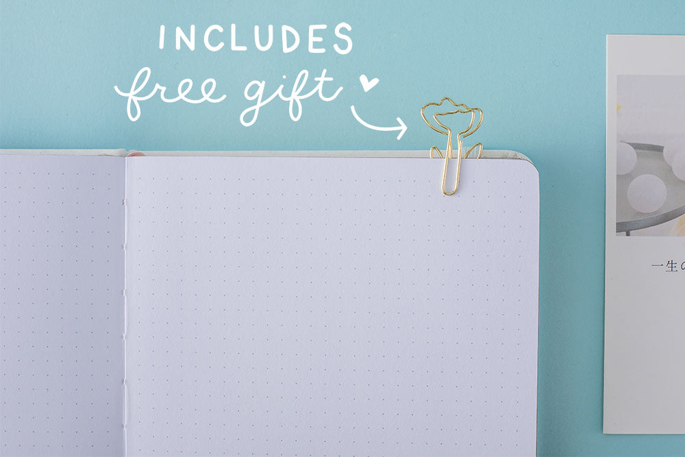 includes free flower paper clip