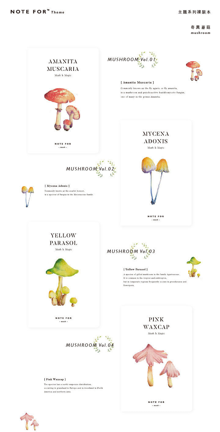 Note for mushrooms notebook notebooktherapy size 125mm x 185mm pooptronica Images