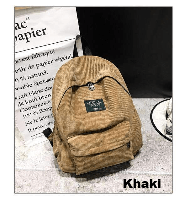 Soft Corduroy Backpack