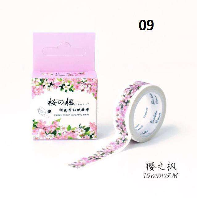 Beautiful Cherry Blossom Washi Tape - 14 Designs!