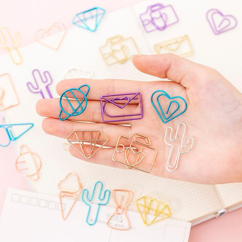 Cute Shapes Paper Clip - Set of 10!