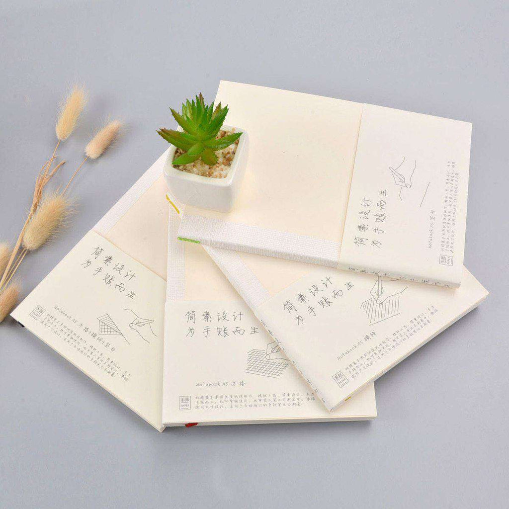 Japanese Minimalist Notebooks - Blank, Ruled or Grid
