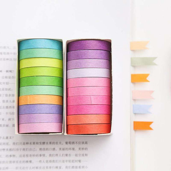 Rainbow Washi Tape - Set of 10!