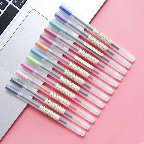 MUJI Style Gel Pens - Set of 12