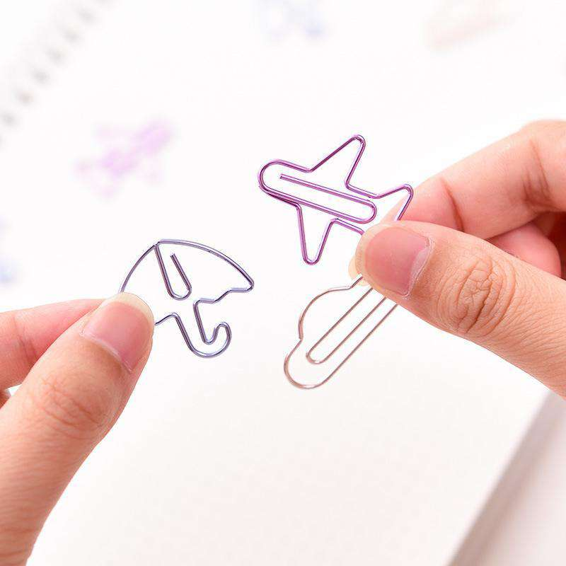 Cartoon Shapes Paper Clips Set