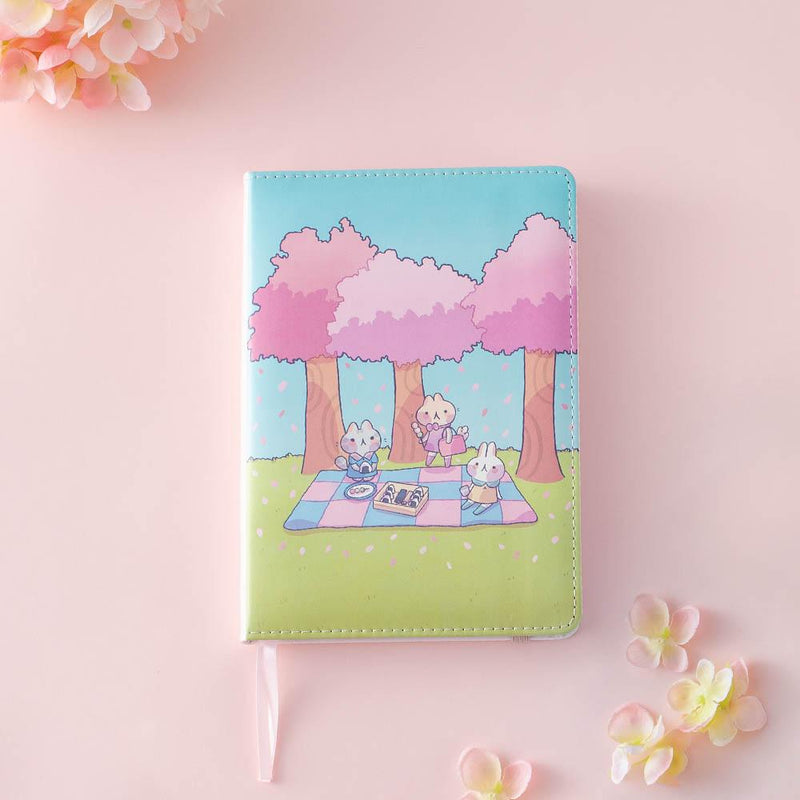 tsuki spring edition fourseason notebook collaboration with Milkkoyo
