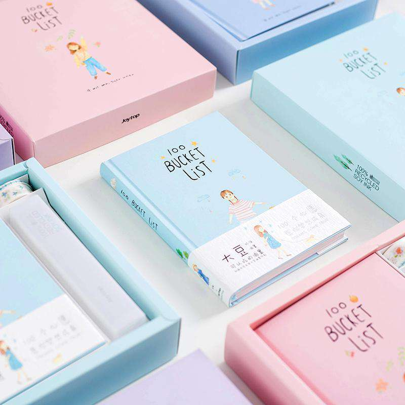 100 Bucket Wish List Notebook Set
