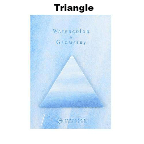 Beautiful Watercolour Geometry Sticky Notes