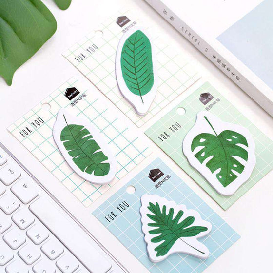 'For You' Forest Leaves Sticky Notes - Set of 4