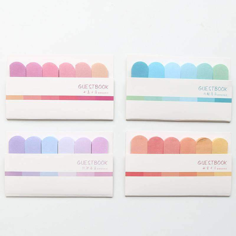 Rainbow Color Sticky Memos - Set of 4!