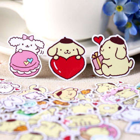 Kawaii Pudding Sticker Set